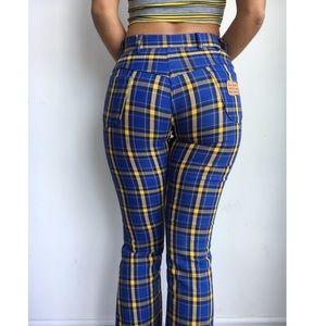 Pants - VINTAGE rare miller plaid tartan boot cut pants 2